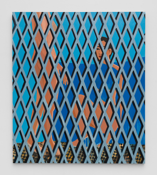 2019.03 Becky Kolsrud: Art Basel Hong Kong , Compression and Fragmentation (Double Figure/Checkered Floor), 2019