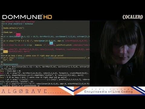 DOMMUNE Tokyo - live coding performances - algorave tokyo x yorkshire