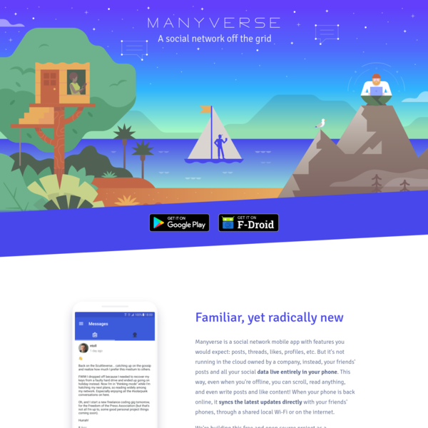 Manyverse - a social network off the grid