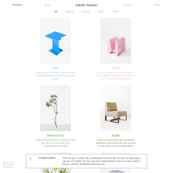 Products : Adolfo Abejón
