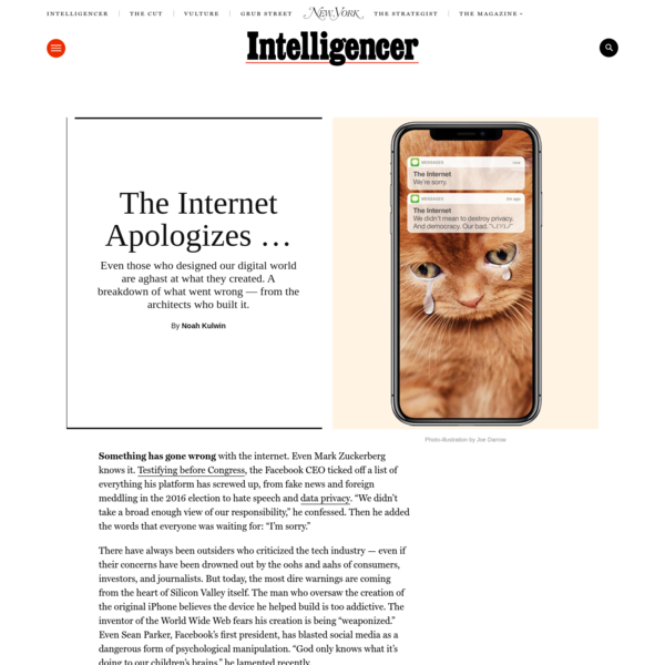An Apology for the Internet - From the Architects Who Built It