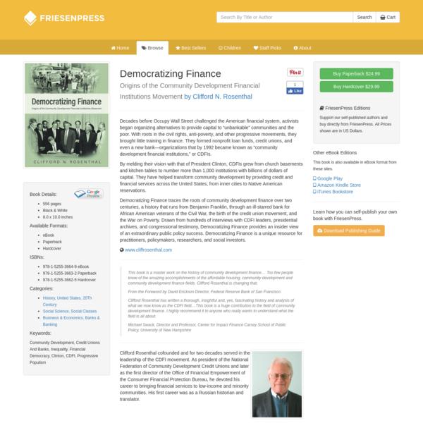 Democratizing Finance at the FriesenPress Bookstore