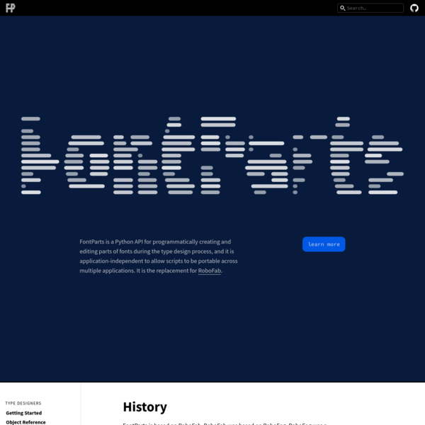 History - FontParts 0.1 documentation