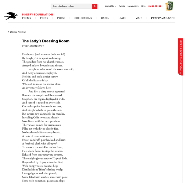 The Lady's Dressing Room by Jonathan Swift