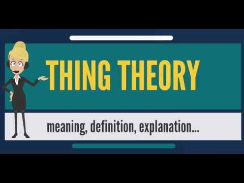 What is THING THEORY? What does THING THEORY mean? THING THEORY meaning, definition & explanation