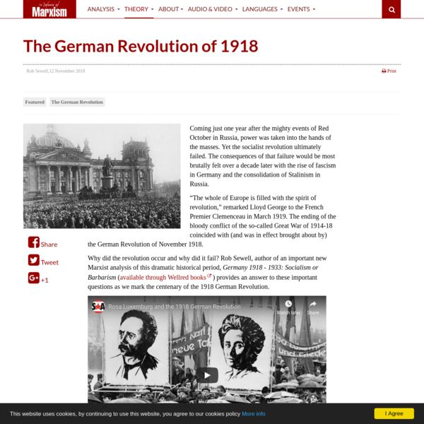 The German Revolution of 1918