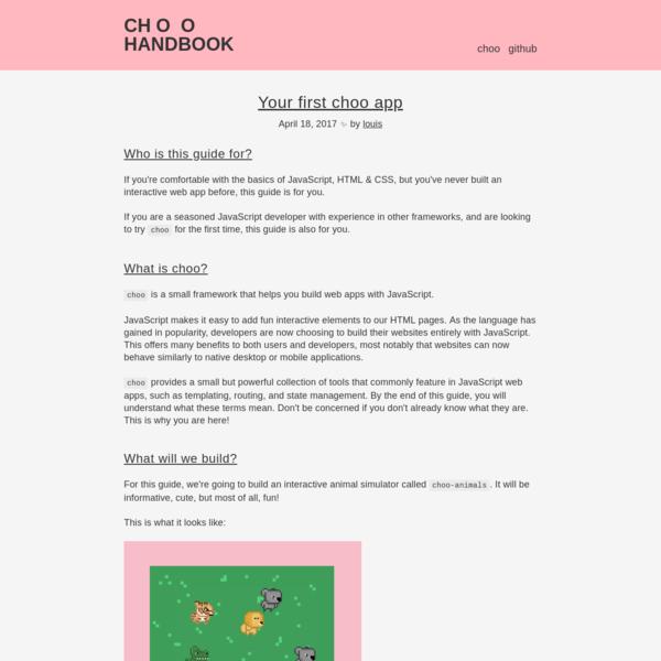 choo handbook - your first choo app