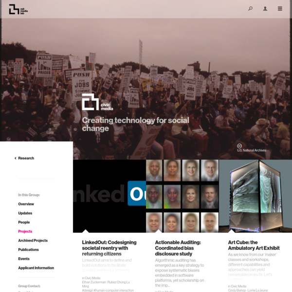 Group Projects ‹ Civic Media - MIT Media Lab