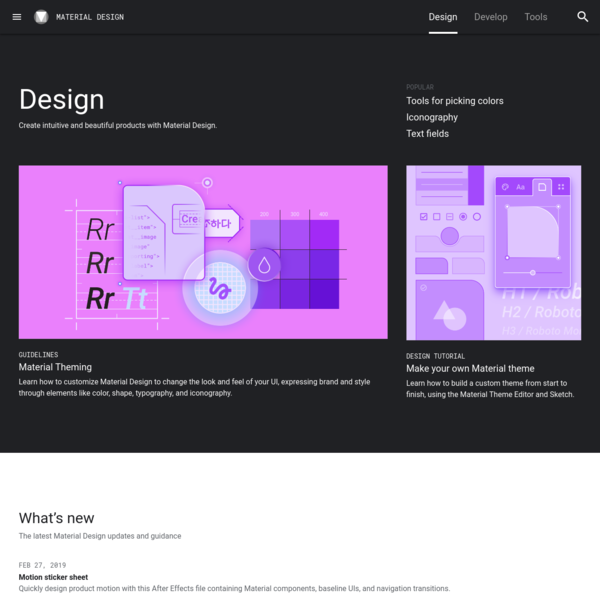 Build beautiful, usable products faster. Material Design is an adaptable system-backed by open-source code-that helps teams build high quality digital experiences.