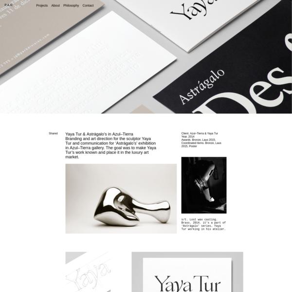 P.A.R Barcelona graphic design & art direction studio - Yaya Tur