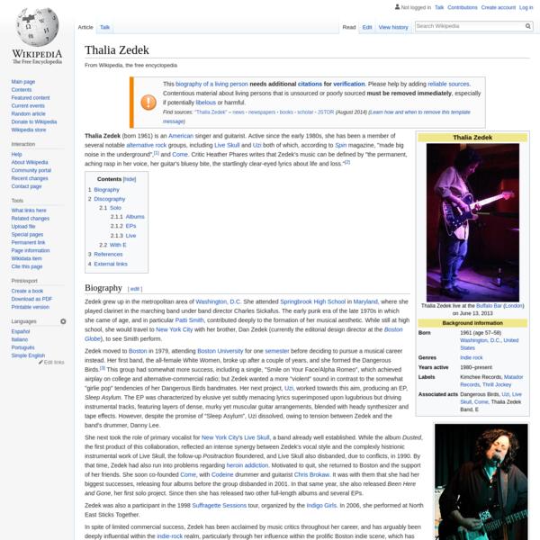Thalia Zedek - Wikipedia