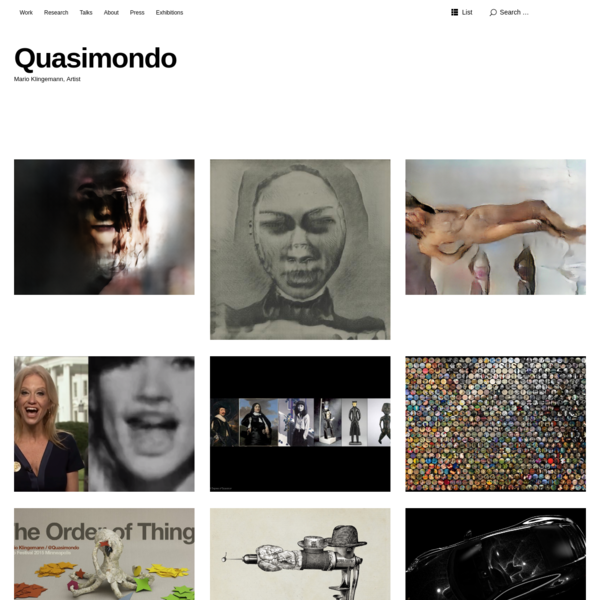 Quasimondo | Mario Klingemann, Artist working with Code, AI and Data