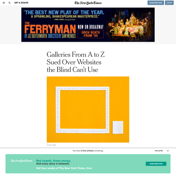 Galleries From A to Z Sued Over Websites the Blind Can't Use
