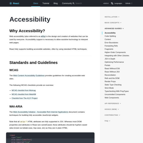 Accessibility - React