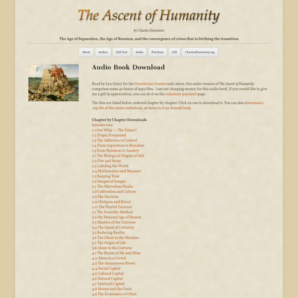 Audio - The Ascent of Humanity
