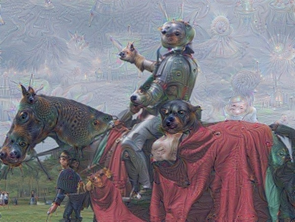 A Knight, pre- and post-animal detection. Photograph: Google