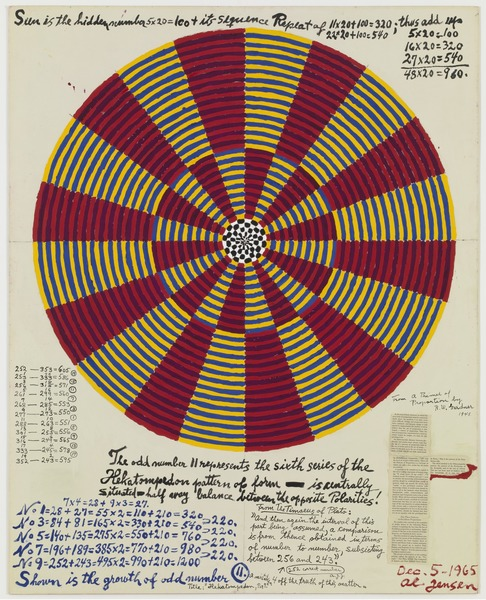 Alfred Jensen, Hekatompedon Series, Per 7, 1965