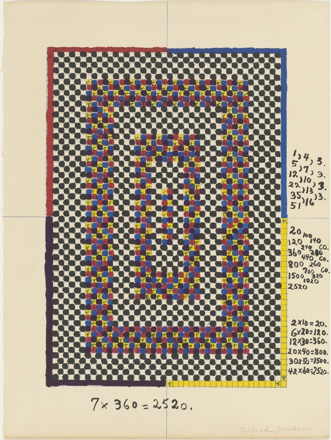 Alfred Jensen, Untitled, 1965