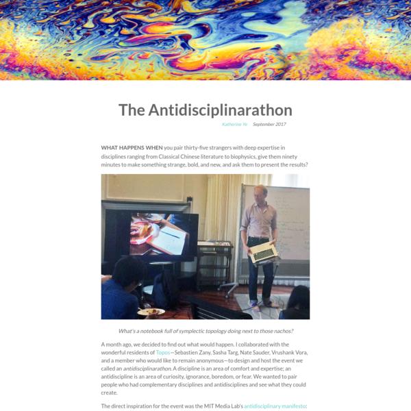 The Antidisciplinarathon
