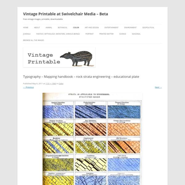 Typography - Mapping handbook - rock strata engineering - educational plate