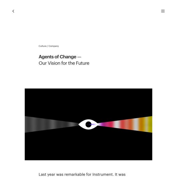 Agents of Change - Our Vision for the Future - Instrument