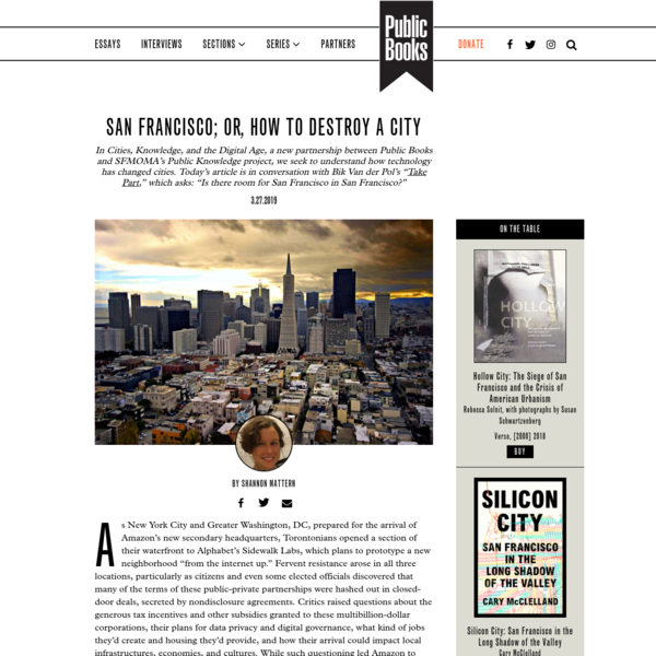 San Francisco; or, How to Destroy a City | Public Books