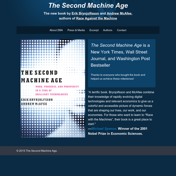 The new book by Erik Brynjolfsson and Andrew McAfee