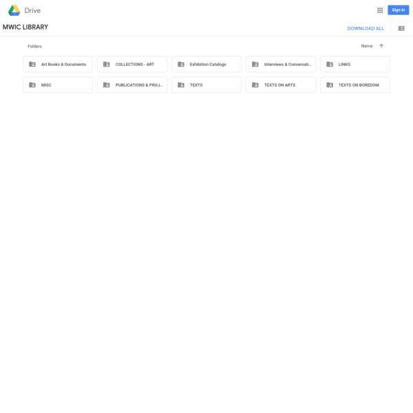 MWIC LIBRARY - Google Drive