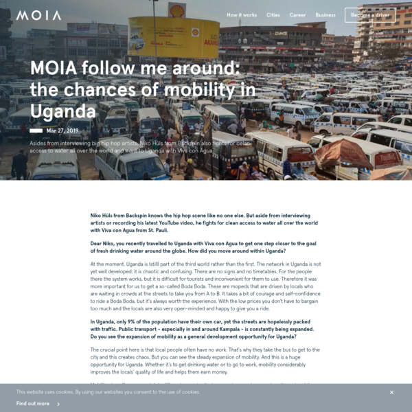 MOIA follow me around: the chances of mobility in Uganda | MOIA