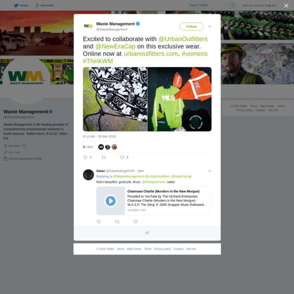 Waste Management on Twitter