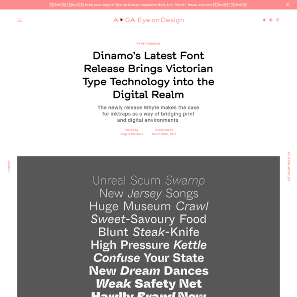 Dinamo's Latest Font Release Brings Victorian Type Technology into the Digital Realm