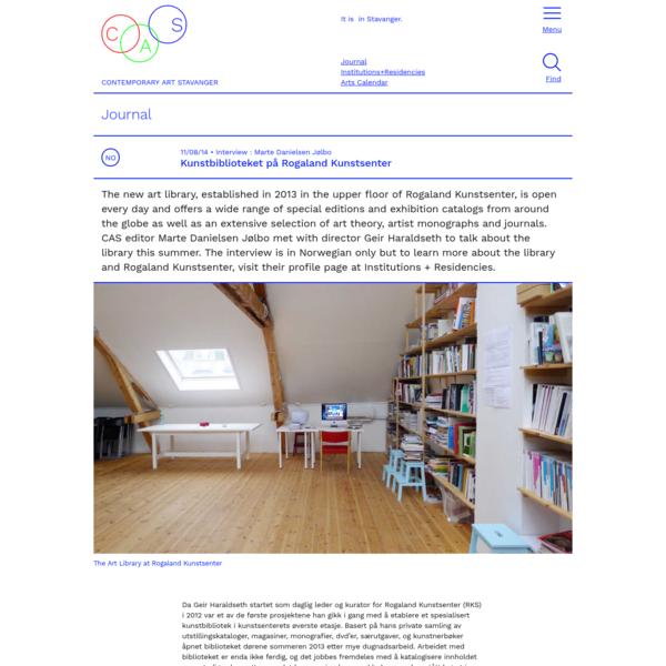 Kunstbiblioteket på Rogaland Kunstsenter - CAS