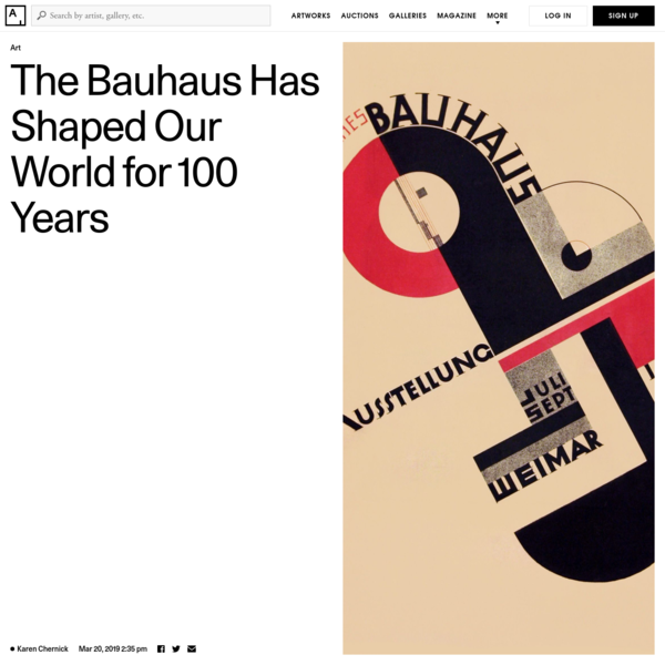 How the Bauhaus Became the 20th Century's Most Influential Movement
