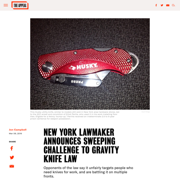 New York Lawmaker Announces Sweeping Challenge to Gravity Knife Law - The Appeal