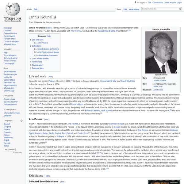 Jannis Kounellis - Wikipedia