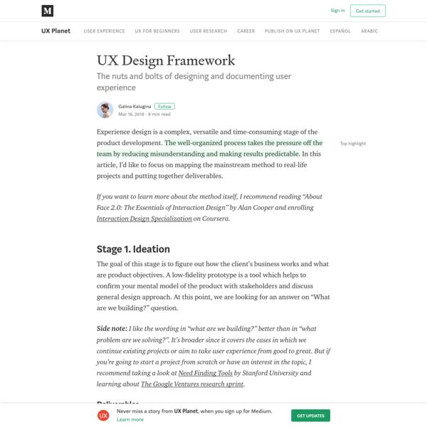 UX Design Framework