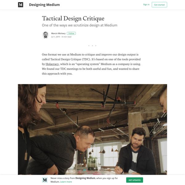 Tactical Design Critique