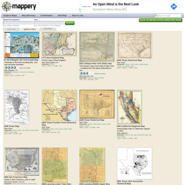 real life map collection * mappery