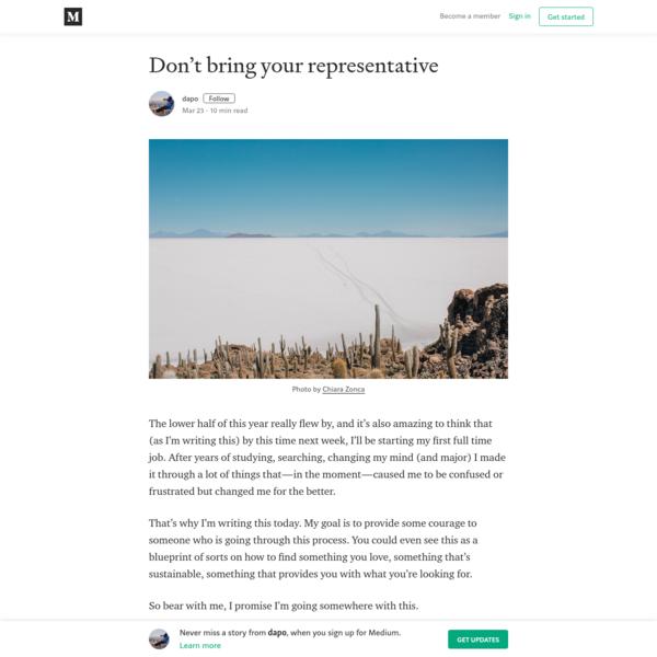 Don't bring your representative