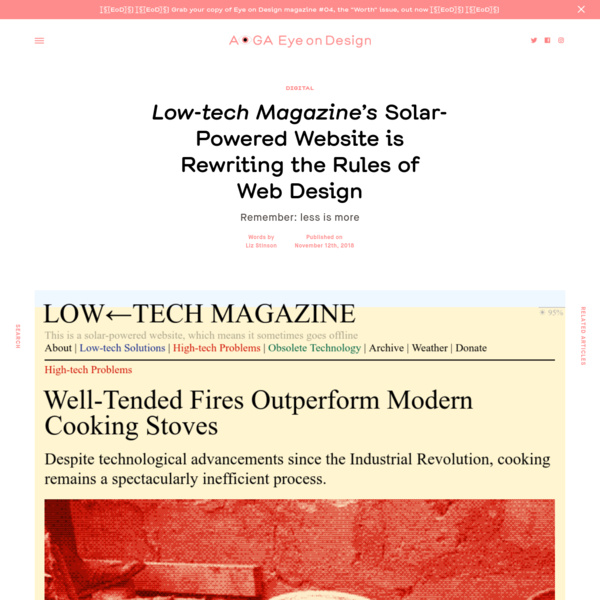 Low-tech Magazine's Solar-Powered Website is Rewriting the Rules of Web Design