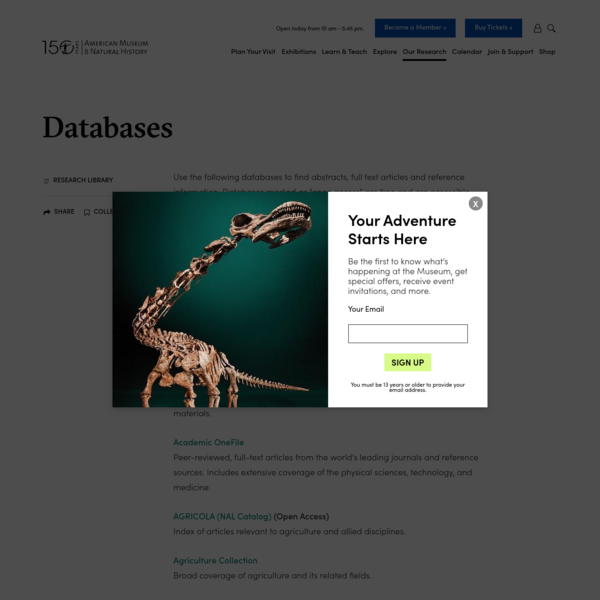 Citation and Full text Databases | AMNH