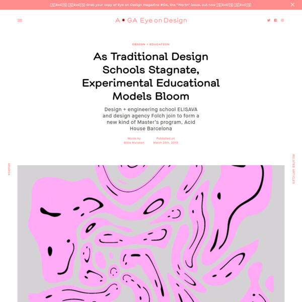 As Traditional Design Schools Stagnate, Experimental Educational Models Bloom