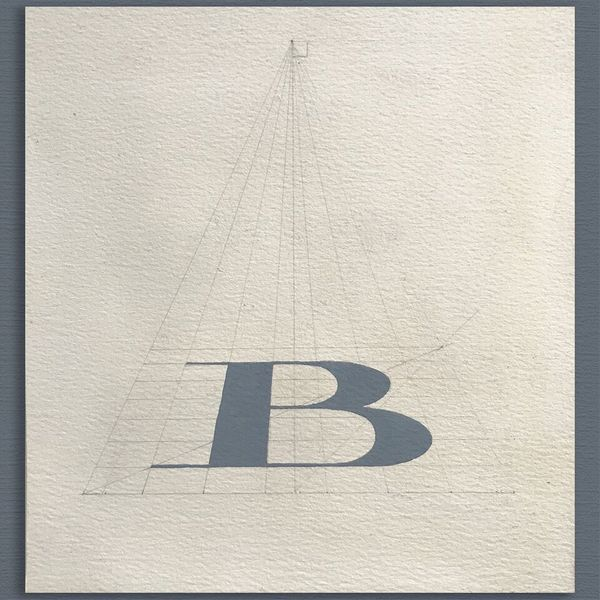 LETTER B - HAND PAINTED TYPE STUDY - 1970S