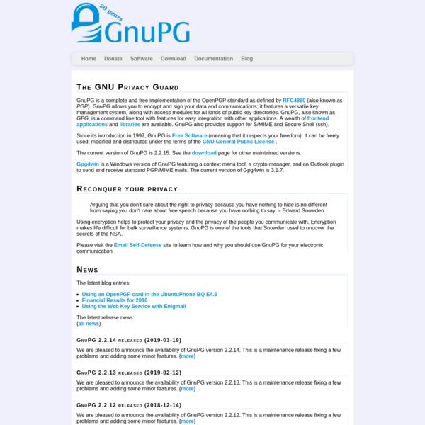 The GNU Privacy Guard