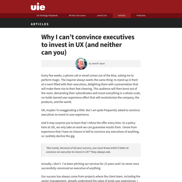 Why I can't convince executives to invest in UX (and neither can you)