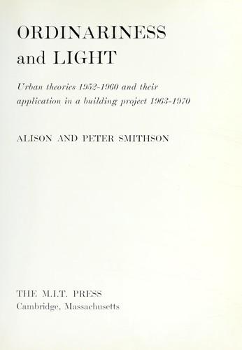 ORDINARINESS and LIGHT