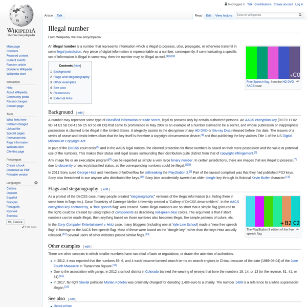 Illegal number - Wikipedia