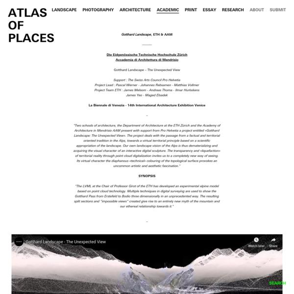 Gotthard Landscape, ETH & AAM - ATLAS OF PLACES