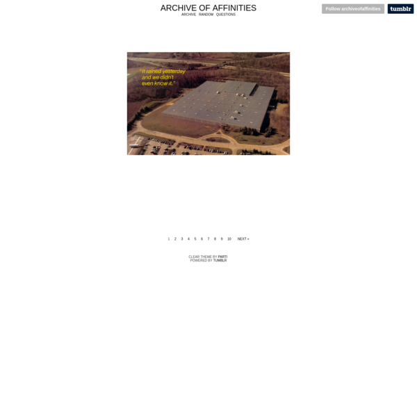 Archive of Affinities