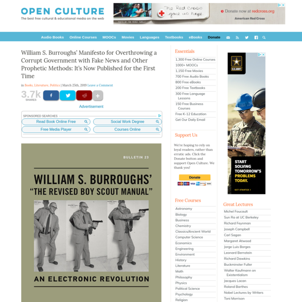 William S. Burroughs' Manifesto for Overthrowing a Corrupt Government with Fake News and Other Prophetic Methods: It's Now P...
